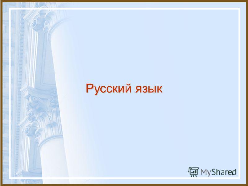 13 Русский язык