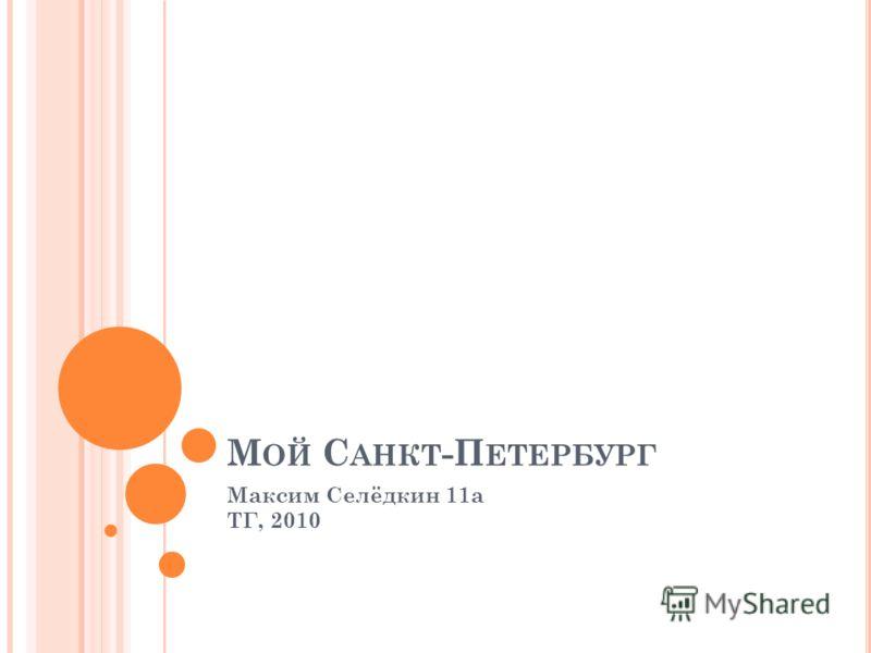 М ОЙ С АНКТ -П ЕТЕРБУРГ Максим Селёдкин 11а ТГ, 2010