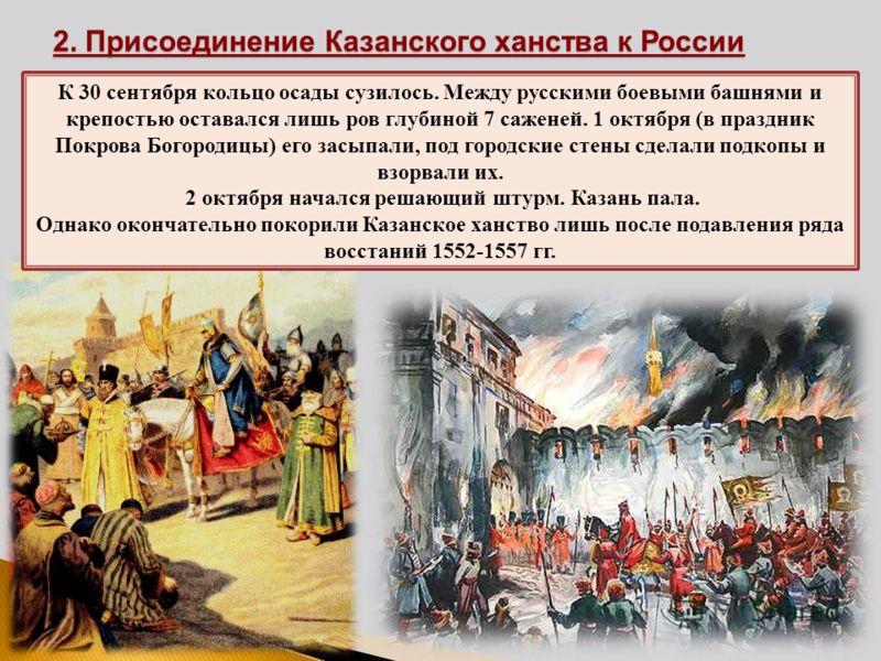 К 30 сентября кольцо осады сузилось. Между русскими боевыми башнями и крепостью оставался лишь ров глубиной 7 саженей. 1 октября (в праздник Покрова Богородицы) его засыпали, под городские стены сделали подкопы и взорвали их. 2 октября начался решающ