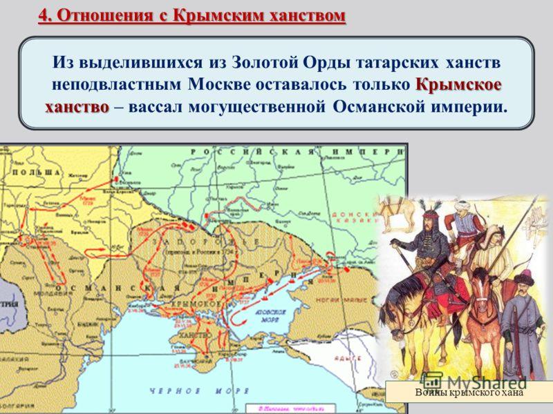 Отношение с крымским ханством и османской империей