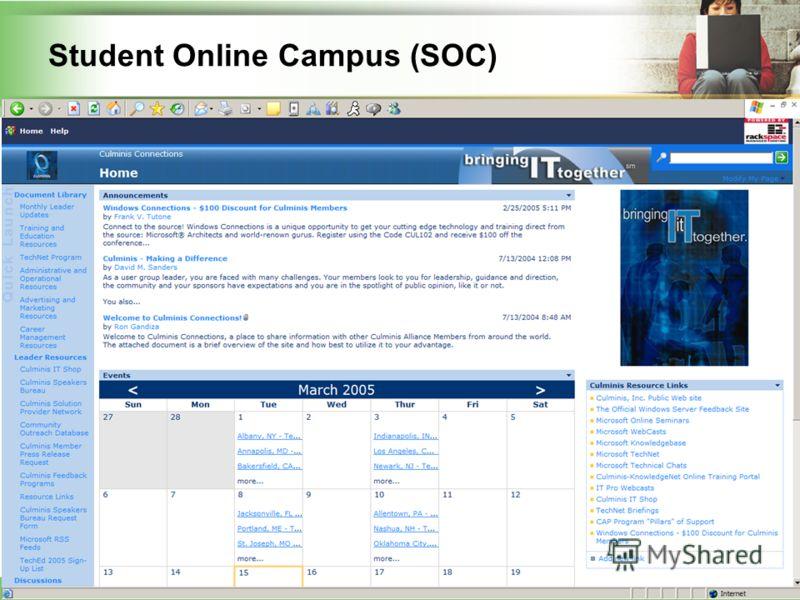 38 Student Online Campus (SOC)