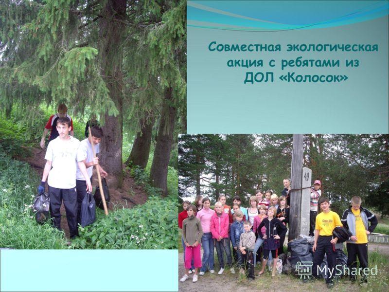 Совместная экологическая акция с ребятами из ДОЛ «Колосок»