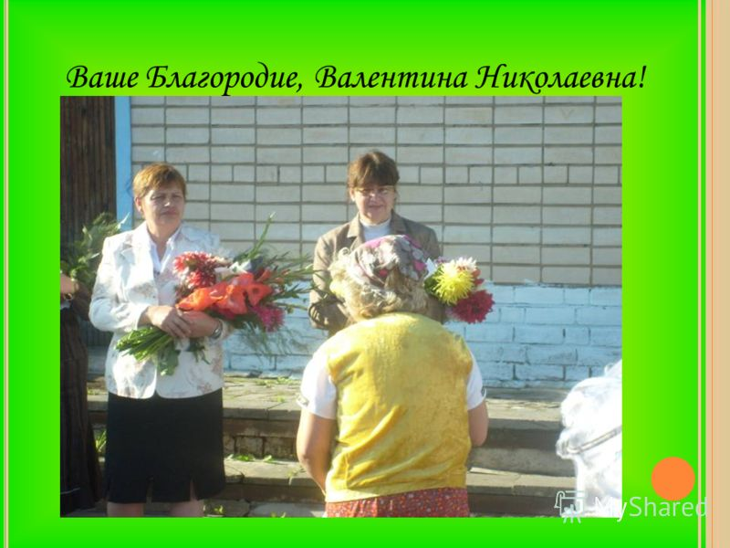 Ваше Благородие, Валентина Николаевна!