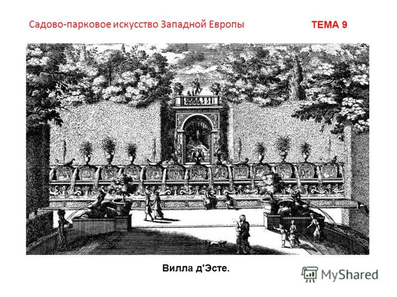 Садово-парковое искусство Западной Европы ТЕМА 9 Вилла д'Эсте.