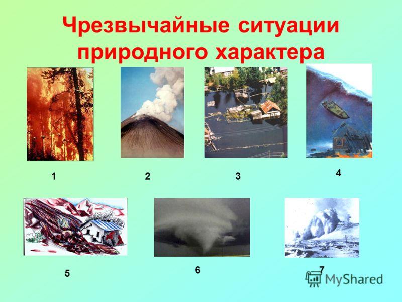 Чрезвычайные ситуации природного характера 123 4 5 67
