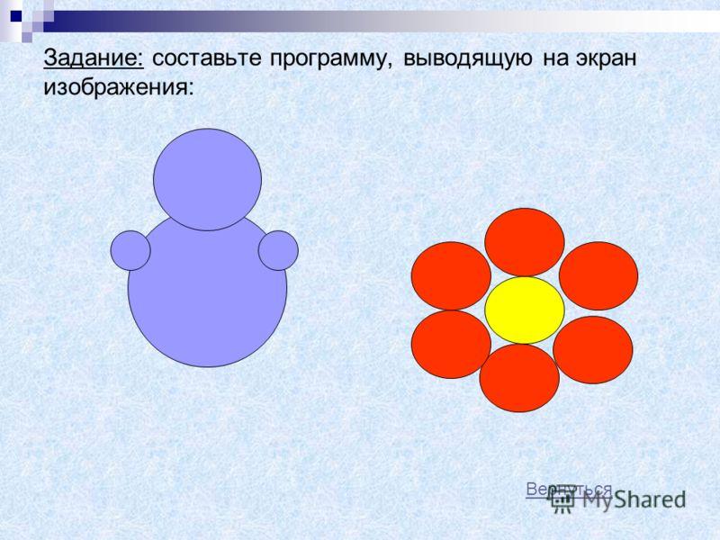 Оператор PAINT – закрашивает замкнутую область произвольной формы PAINT (x, y), цвет заливки, цвет контура Если цвет заливки и цвет контура совпадают, то в операторе PAINT можно указывать только один цвет Пример программы: SCREEN 7 CIRCLE (150,100),3
