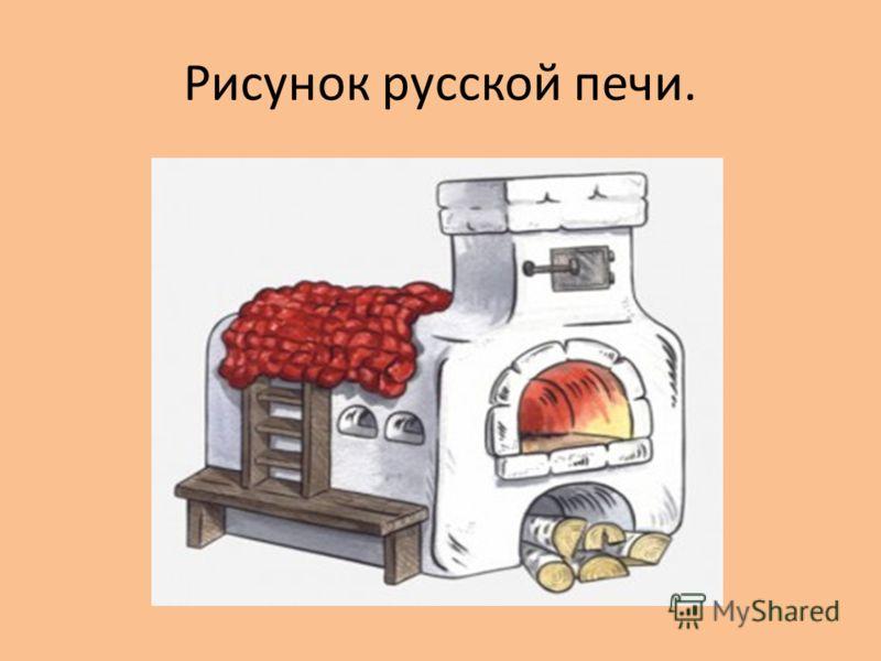 Рисунок русской печи.