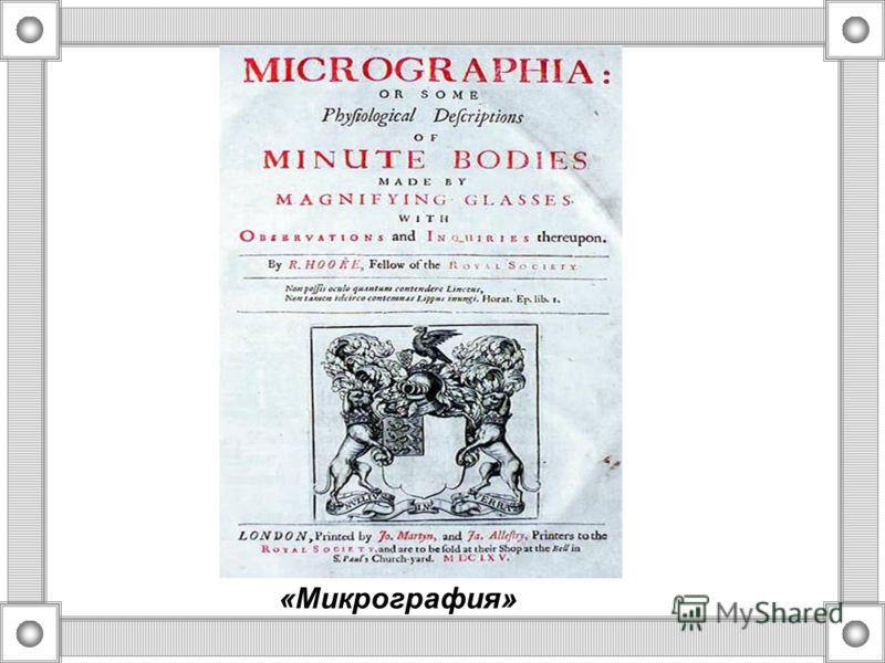 1665 г - открытие клеточного строения пробки английским ученым физиком Р. Гуком, в его работе «Монография» был впервые применен термин «cellula» - « клетка»