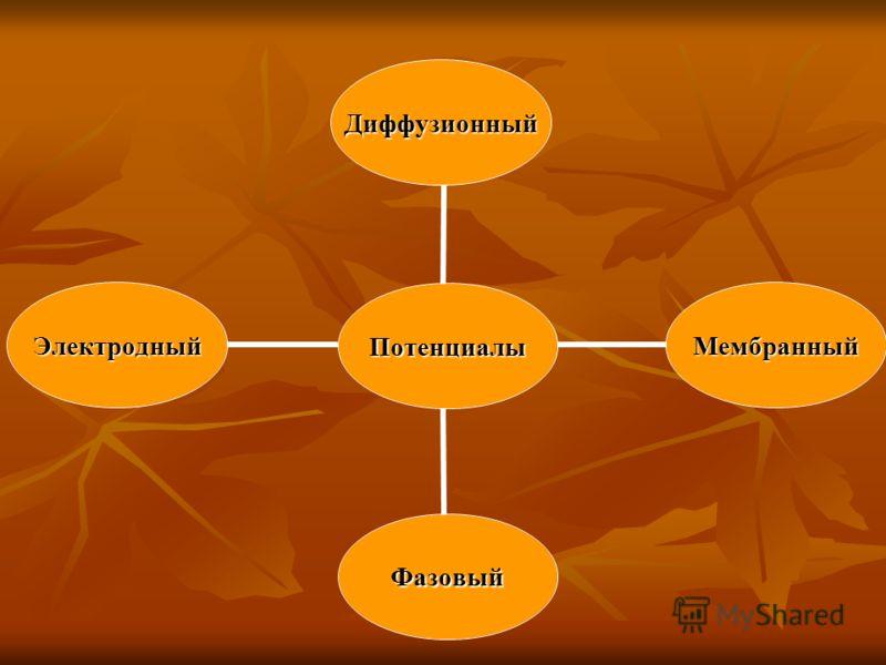 Потенциалы Диффузионный Мембранный Фазовый Электродный