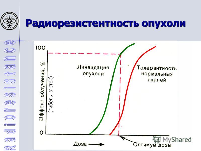 Радиорезистентность опухоли (гибель клеток)