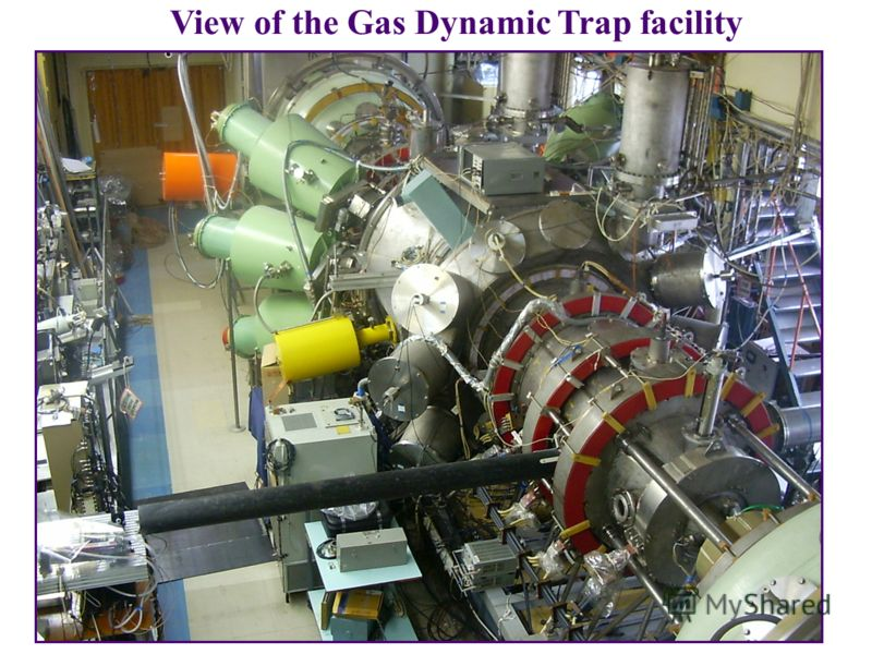View of the Gas Dynamic Trap facility