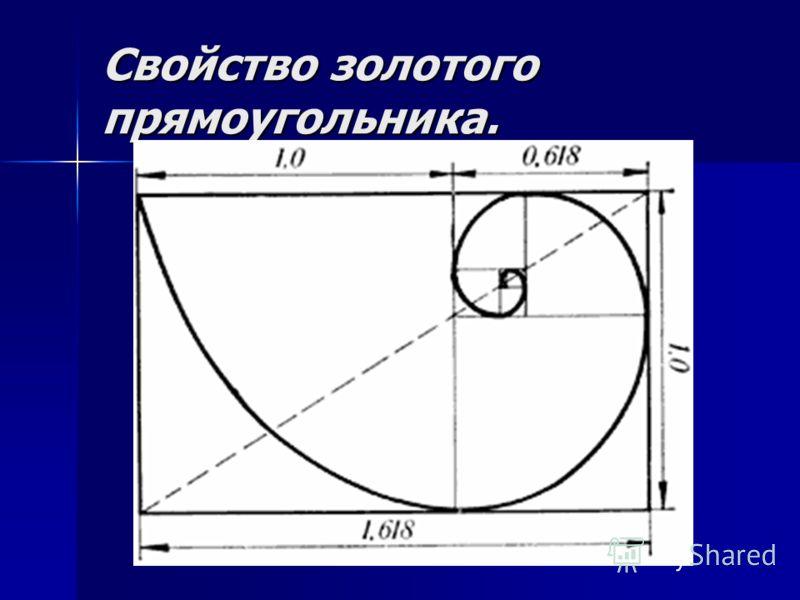 Свойство золотого прямоугольника.