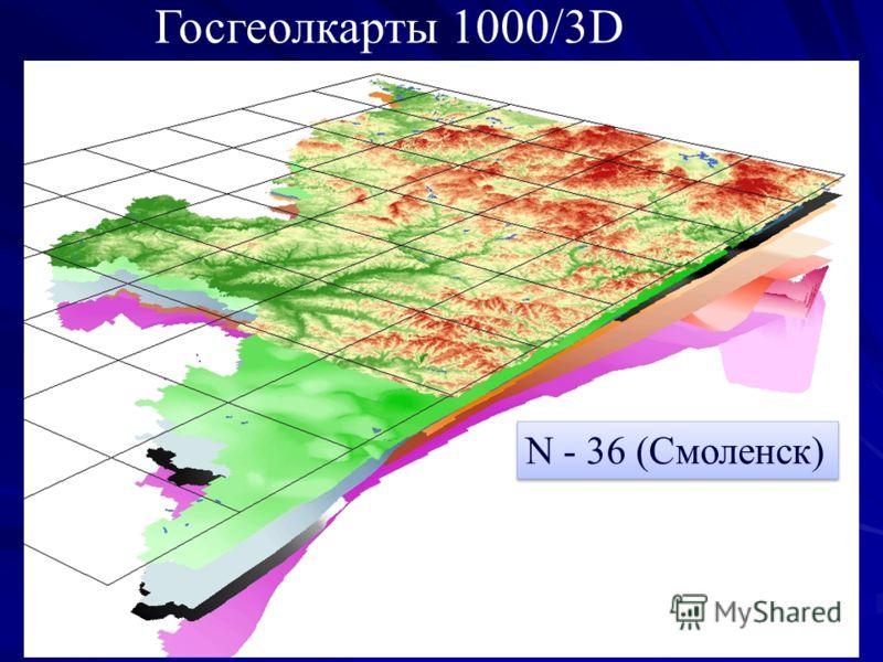 N - 36 (Смоленск) Госгеолкарты 1000/3D