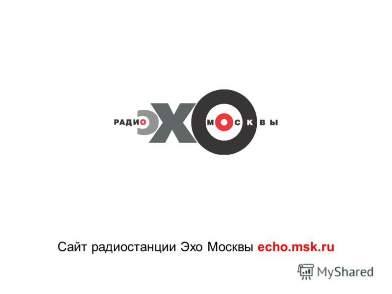 Сайт радиостанции Эхо Москвы echo.msk.ru
