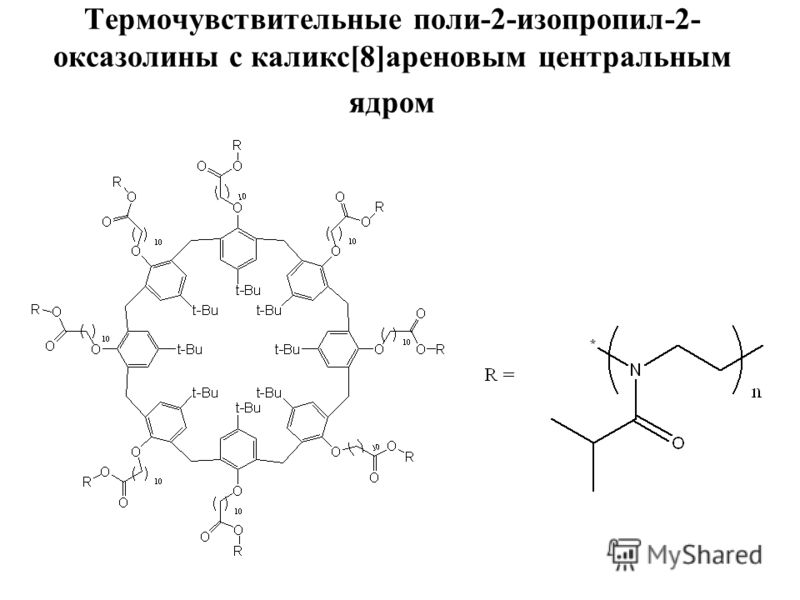 Термочувствительные поли-2-изопропил-2- оксазолины с каликс[8]ареновым центральным ядром
