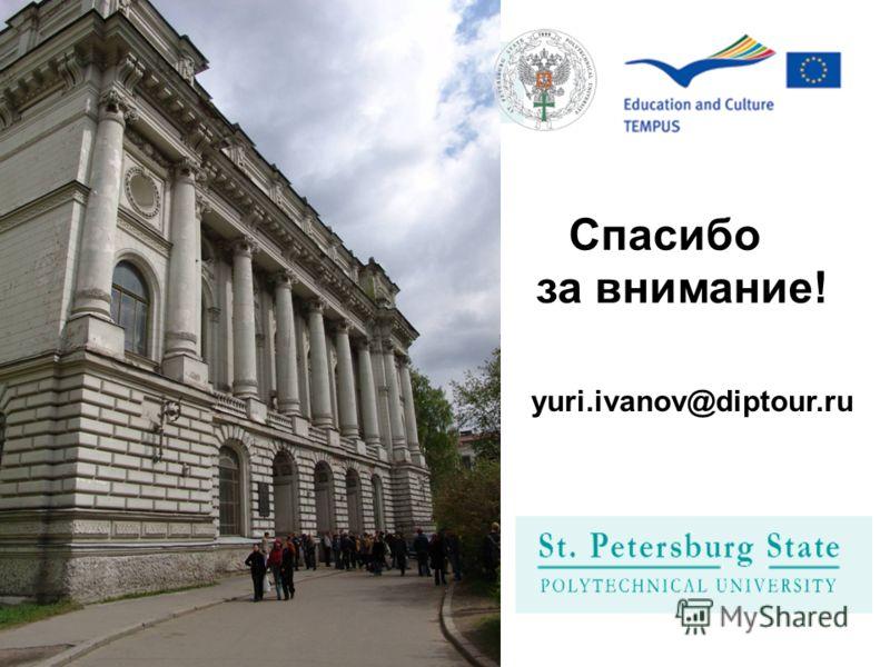 Спасибо за внимание! yuri.ivanov@diptour.ru