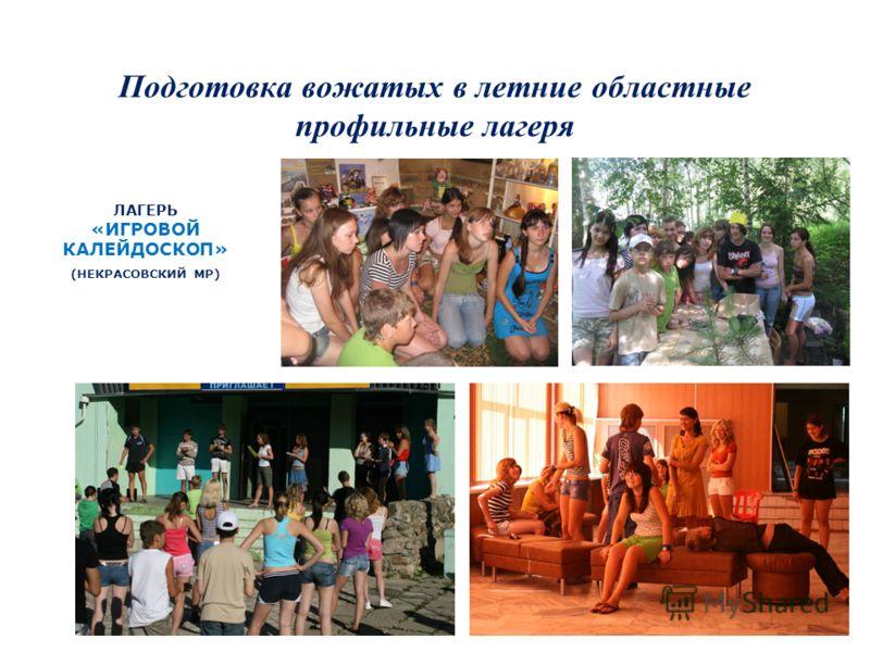 Подготовка вожатых в летние областные профильные лагеря ЛАГЕРЬ «ИГРОВОЙ КАЛЕЙДОСКОП» (НЕКРАСОВСКИЙ МР)