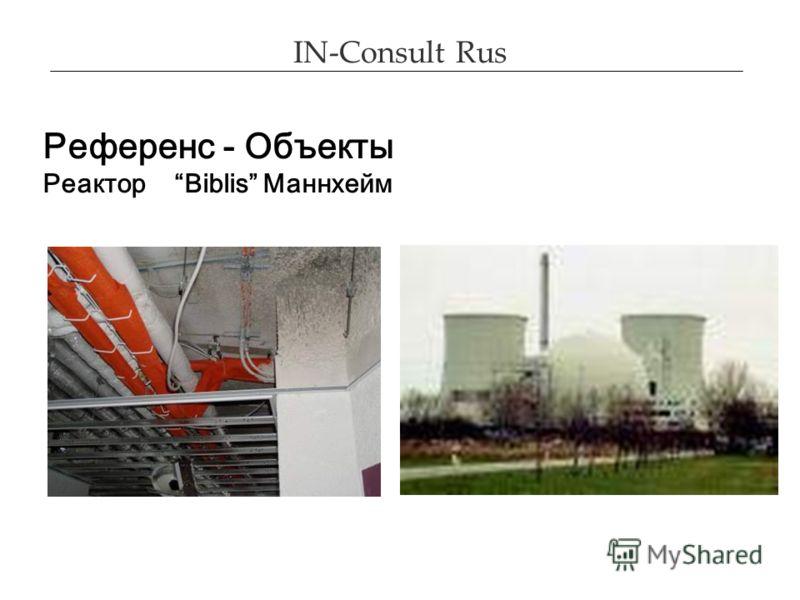 IN-Consult Rus Референс - Объекты Реактор Biblis Маннхейм