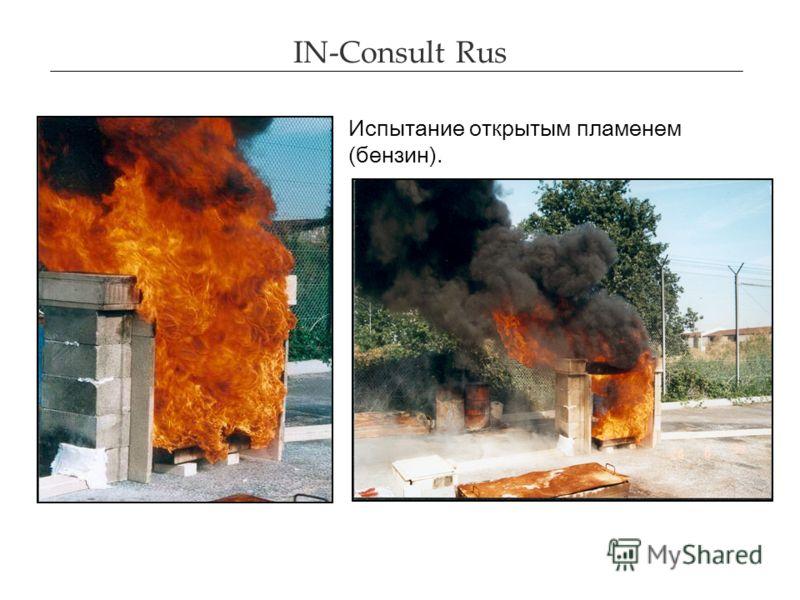 IN-Consult Rus Испытание открытым пламенем (бензин).