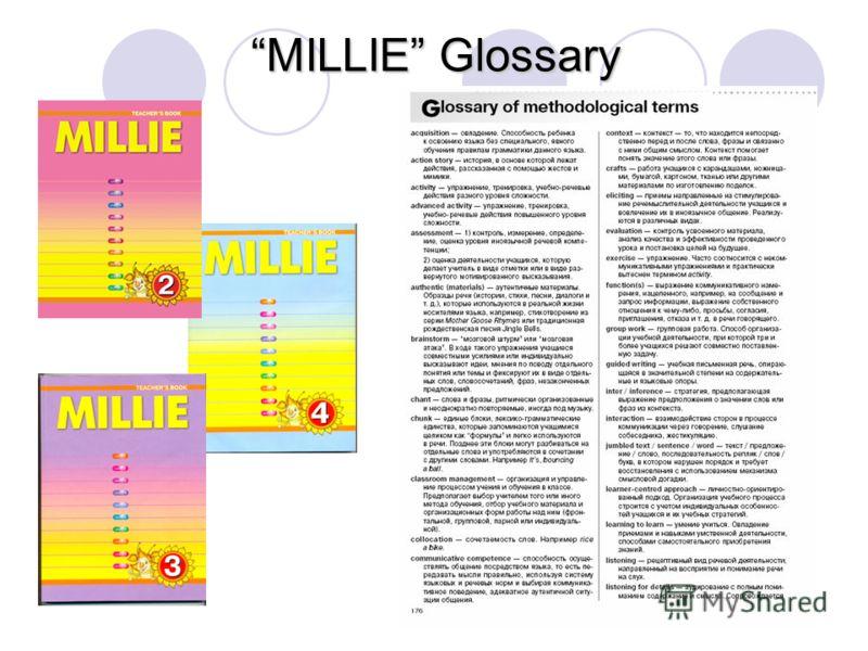 MILLIE Glossary