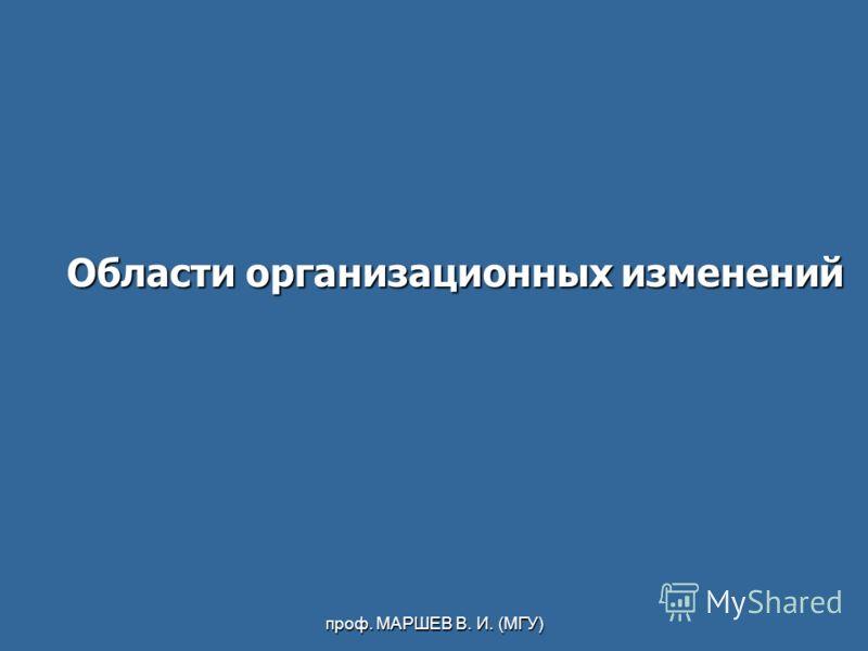 проф. МАРШЕВ В. И. (МГУ) Области организационных изменений