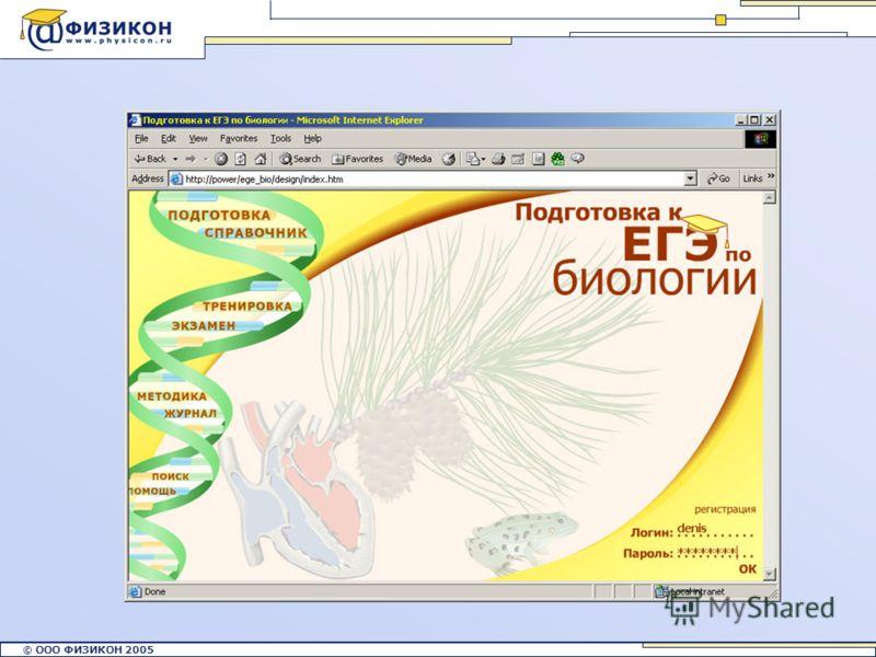© ООО ФИЗИКОН 2002 © ООО ФИЗИКОН 2005
