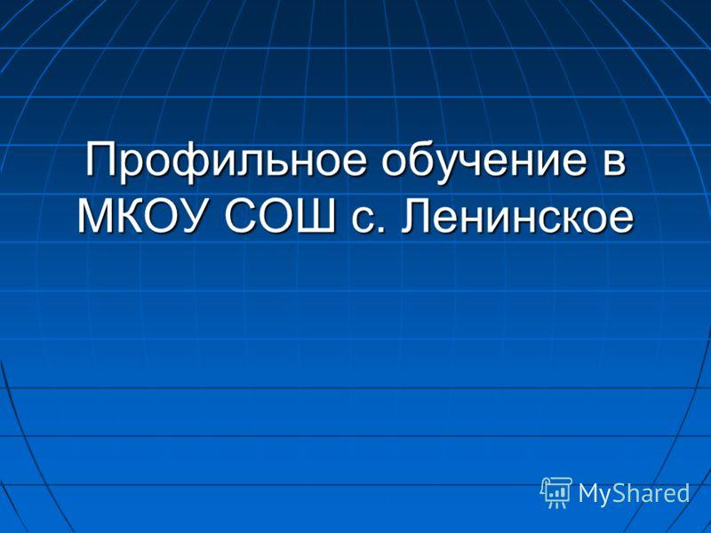 Профильное обучение в МКОУ СОШ с. Ленинское