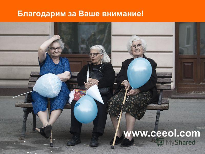 Благодарим за Ваше внимание! www.ceeol.com