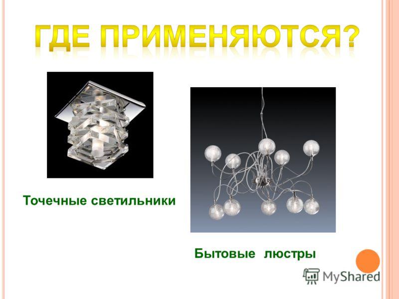 Бытовые люстры Точечные светильники