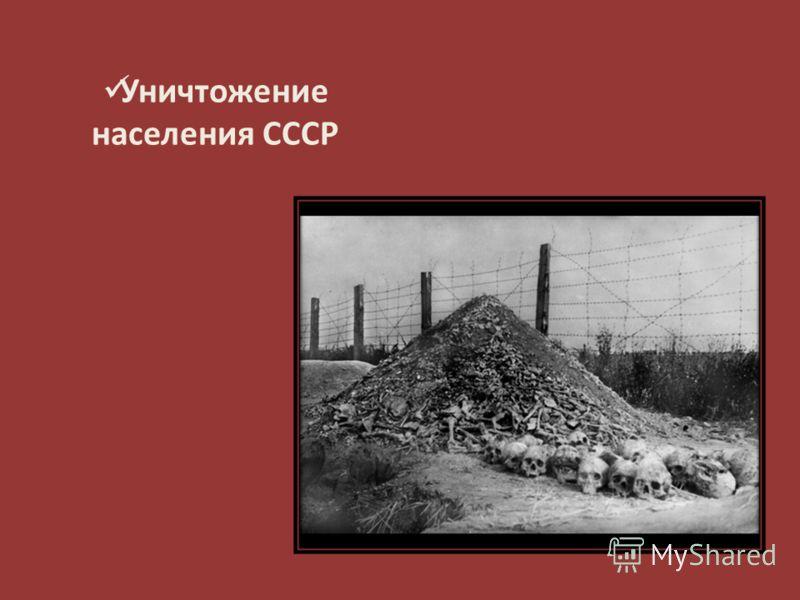 Уничтожение населения СССР