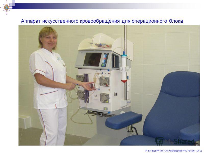 ФГБУ ВЦЭРМ им. А.М.Никифорова МЧС России 2011 Аппарат искусственного кровообращения для операционного блока