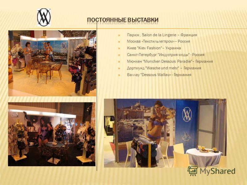 Париж, Salon de la Lingerie – Франция Москва «Текстильлегпром»– Россия Киев