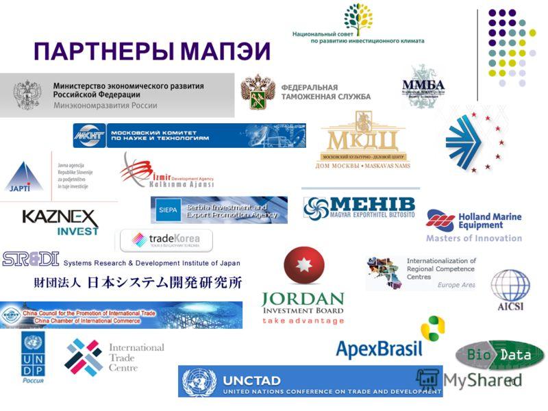 Московское Агентство поддержки экспорта и инвестиций 10 ПАРТНЕРЫ МАПЭИ
