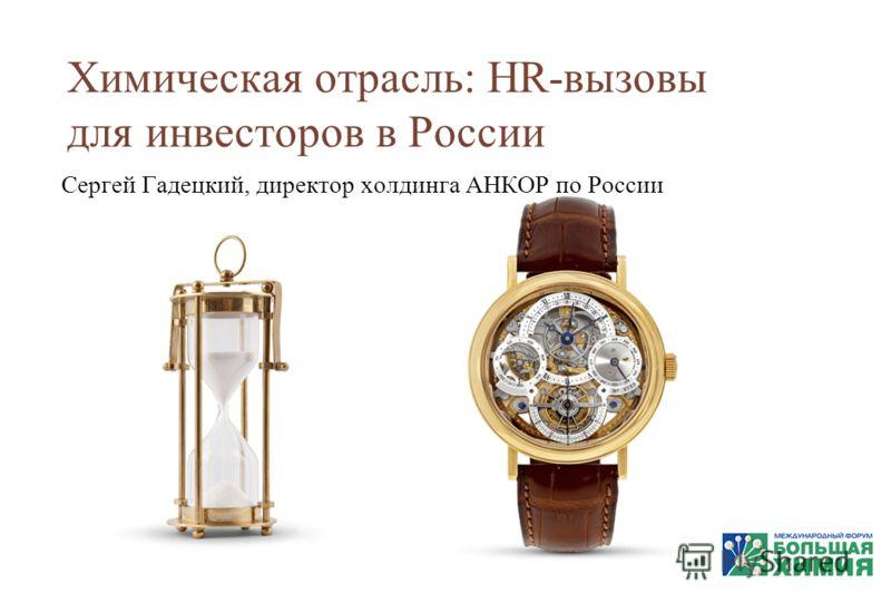 Химическая отрасль: HR-вызовы для инвесторов в России Сергей Гадецкий, директор холдинга АНКОР по России