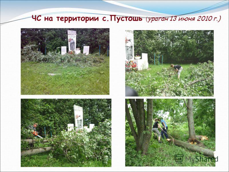 ЧС на территории с.Пустошь ( ураган 13 июня 2010 г.)