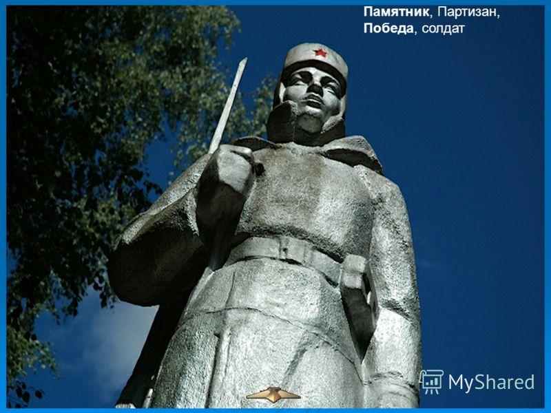 Памятник, Партизан, Победа, солдат