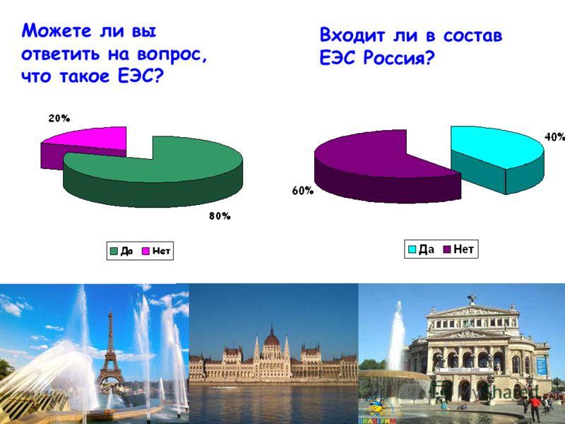 Можете ли вы ответить на вопрос, что такое ЕЭС? Входит ли в состав ЕЭС Россия?