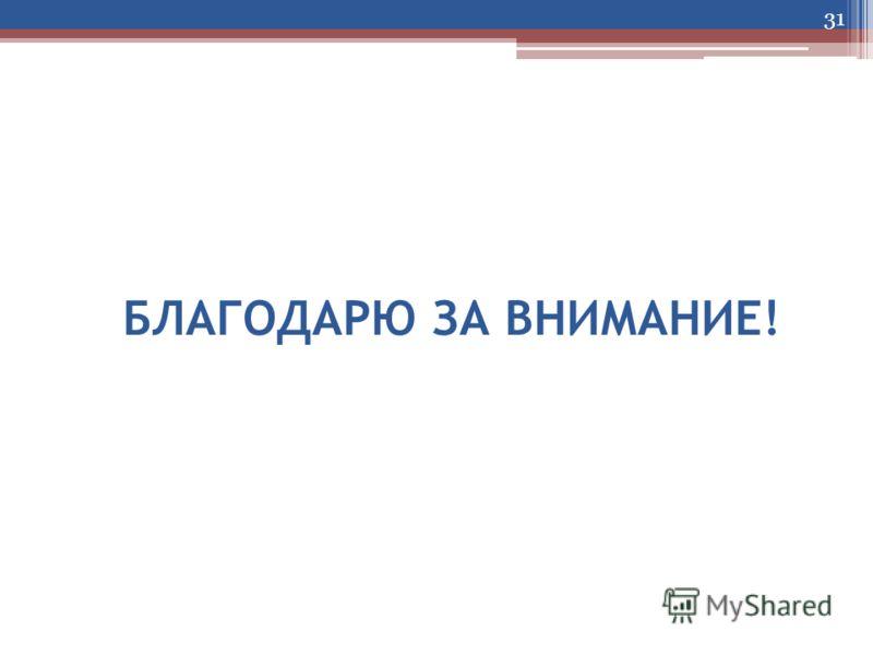 БЛАГОДАРЮ ЗА ВНИМАНИЕ! 31