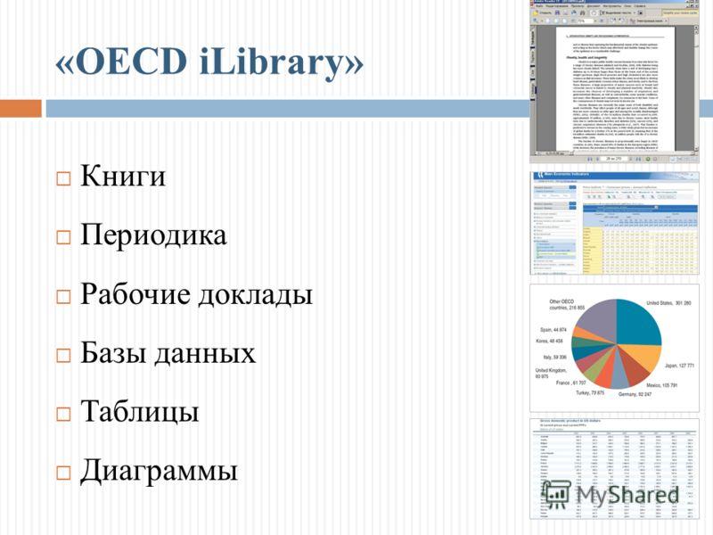 Книги Периодика Рабочие доклады Базы данных Таблицы Диаграммы
