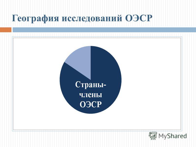 География исследований ОЭСР