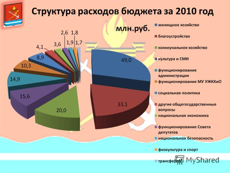Структура расходов бюджета за 2010 год