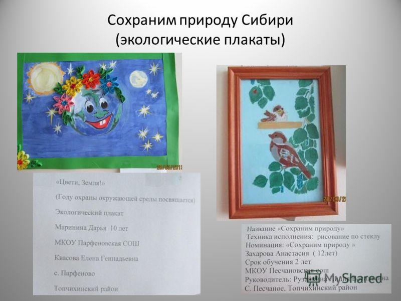 Сохраним природу Сибири (экологические плакаты)