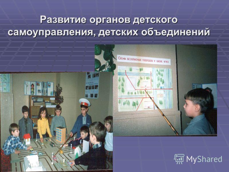 Развитие органов детского самоуправления, детских объединений