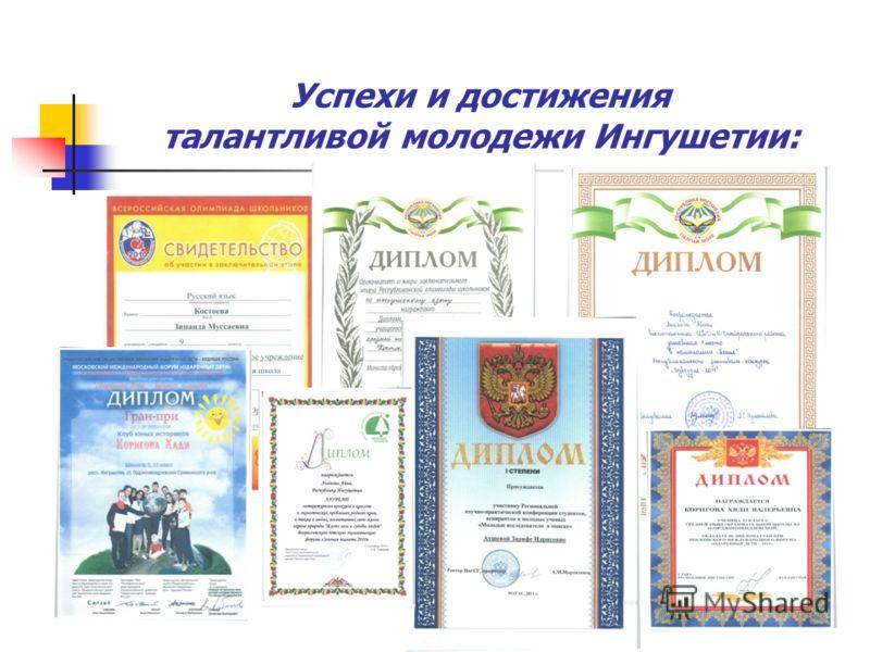 Успехи и достижения талантливой молодежи Ингушетии: