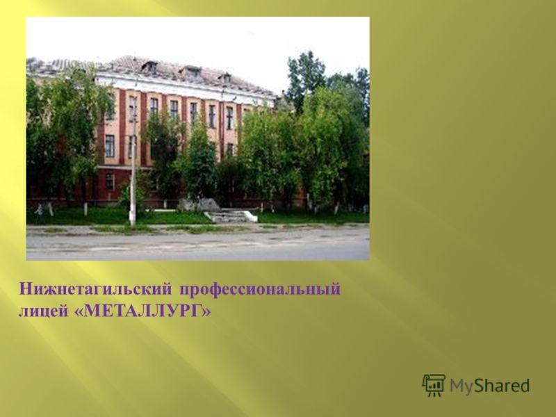 Нижнетагильский профессиональный лицей «МЕТАЛЛУРГ»