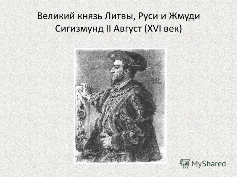 Великий князь Литвы, Руси и Жмуди Сигизмунд II Август (XVI век)