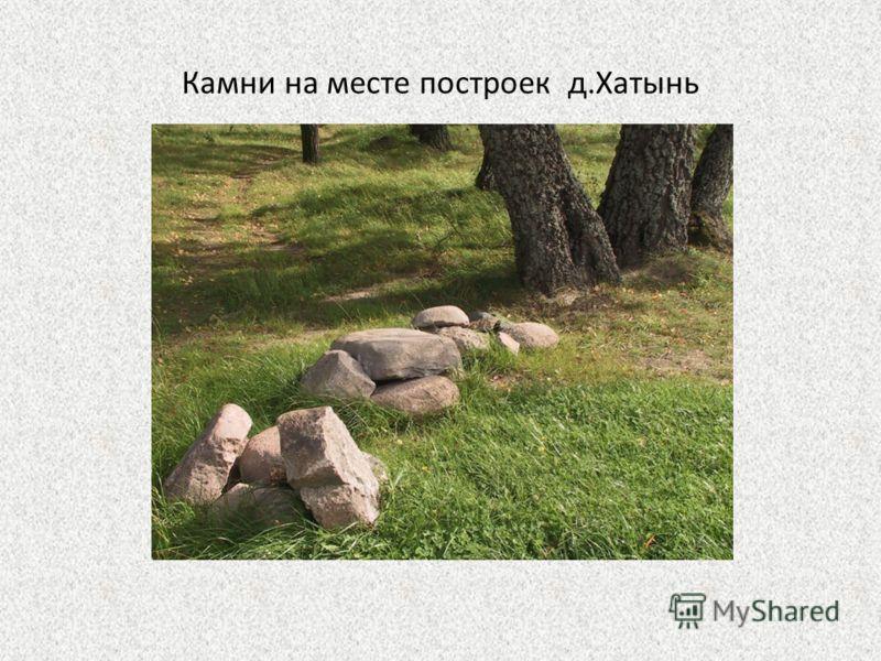 Камни на месте построек д.Хатынь