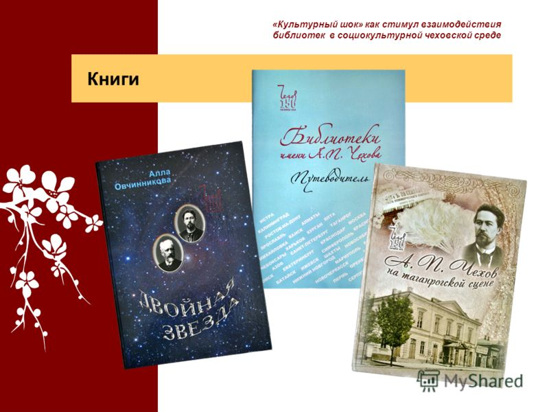 Книги «Культурный шок» как стимул взаимодействия библиотек в социокультурной чеховской среде