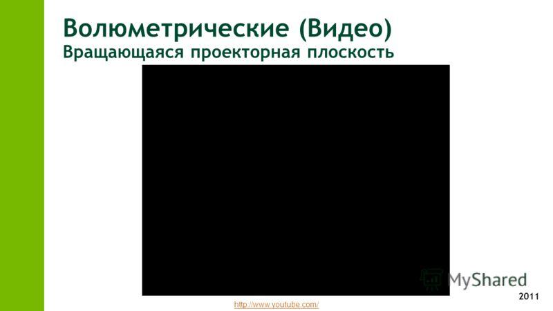2011 Волюметрические (Видео) Вращающаяся проекторная плоскость http://www.youtube.com/