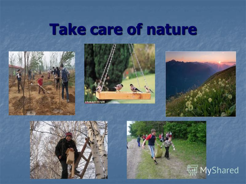 Take care of nature